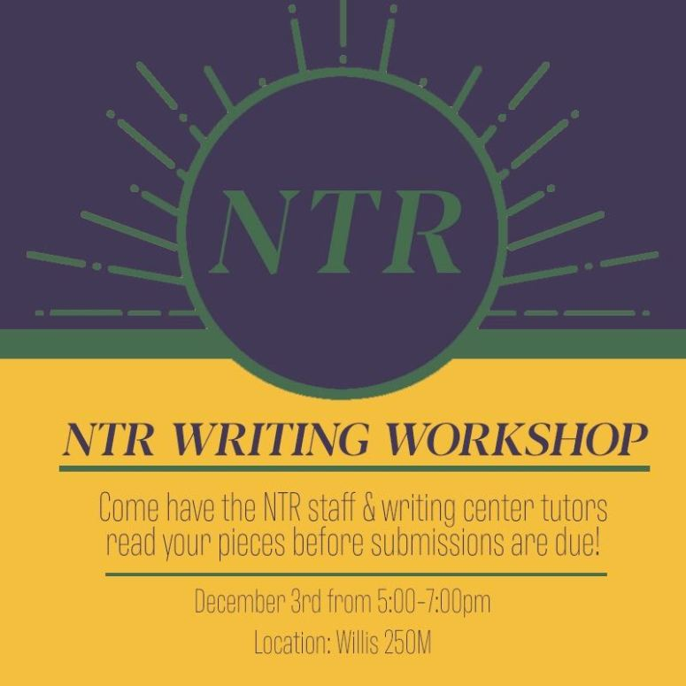 NTR Fall Writing Workshop